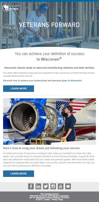Wisconsin Veterans Forward Email