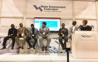 Talent speaking in a panel at WEFTEC