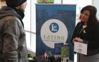 Latino Chamber of Commerce booth at Small Business Academy at Potawatomi Hotel
