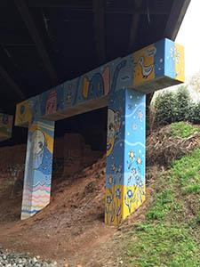Mural along the Beltline trail underpass in Atlanta, Georgia