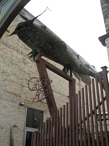 Funky catfish sculpture in Fort Atkinson, Wis.