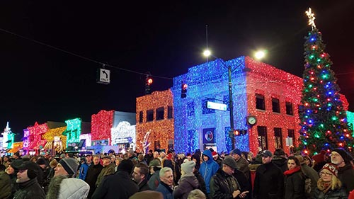 Downtown Holiday Lights Display in Rochester, Mich.