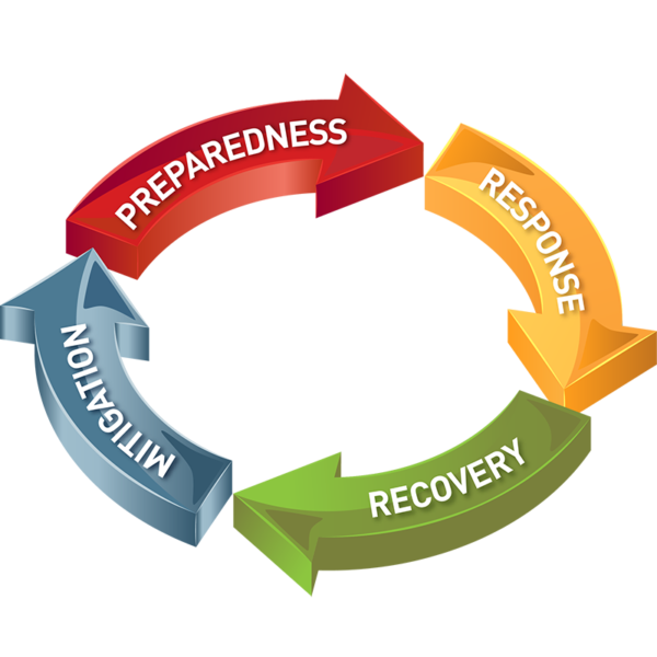Diagram showing the community economic preparedness and recovery core functions
