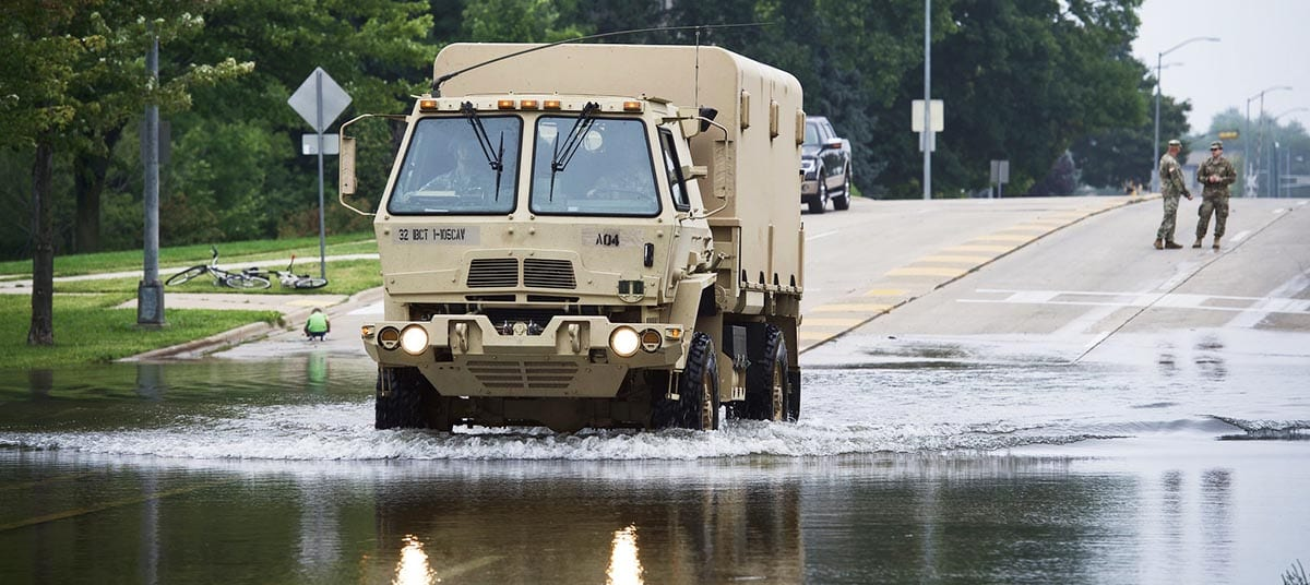 National Guard assists with Madison flooding in Tenney Park