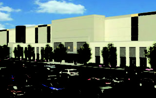 Rendering of Oak Creek Amazon facility