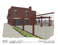 Sketch of Livery Lofts, Fond du Lac