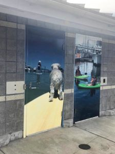 Vinyl photos on doors in Seattle