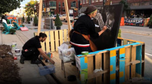 Artists participating in Green Bay's On Broadway's Better Block Project