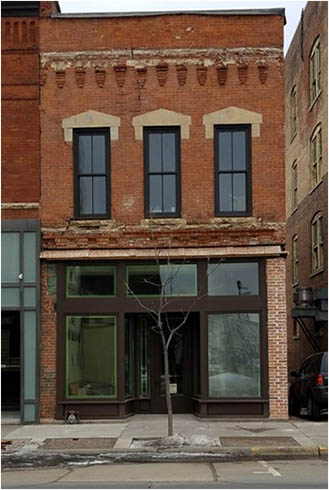 Facade of the Jacobs Building in La Crosse after renovation