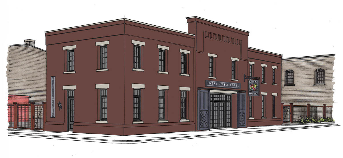 Rendering of Livery Lofts, Fond du Lac