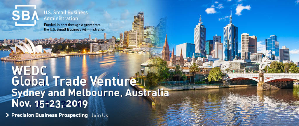 Join WEDC for a trade venture to Australia in November 2019
