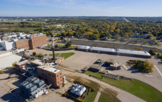Aerial photo of Madison's former Oscar Meyer site