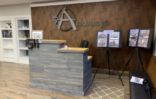 Renovated reception area at Anthony's 511, Watertown