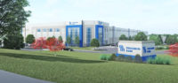 Rendering of new Fresenius Kabi regional distribution center in Pleasant Prairie