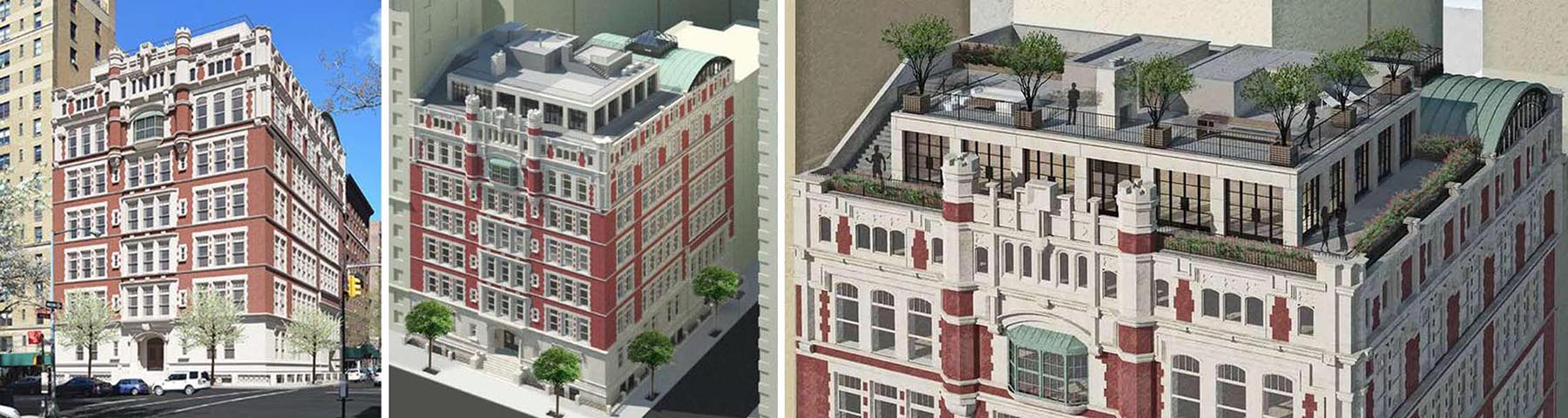 Proper way to add a rooftop addition by setting it back from all visible facades