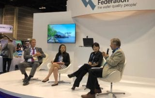 Participants in a panel at WEFTEC 2019