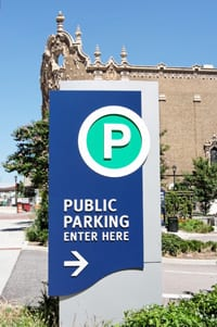 Public parking sign in Augusta, GA
