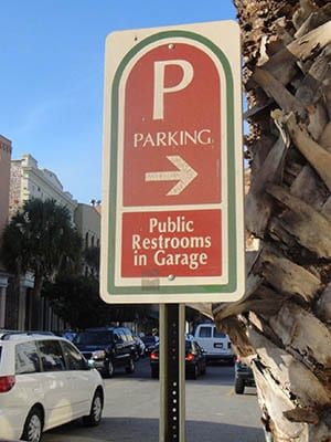 Parking sign in Charleston, SC