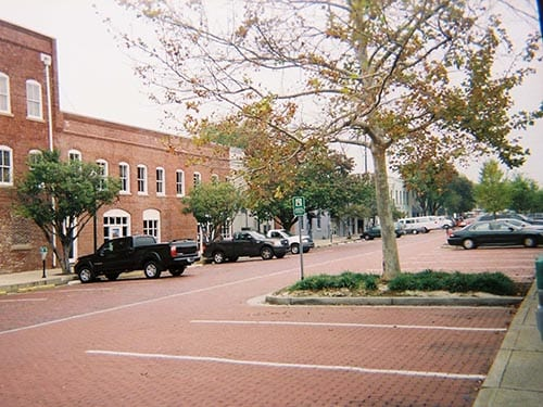 Example of 180-degree parking in Columbia, SC