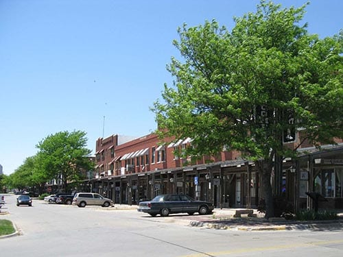 Example of 180-degree parking in Dodge City, KS