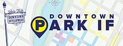 Idaho Falls downtown parking logo