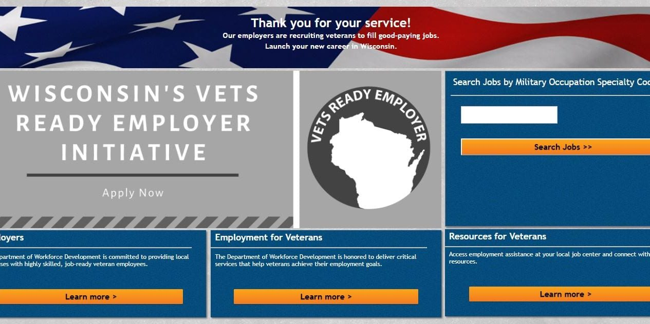 Wisconsin's Vets Ready Employer Initiative Website