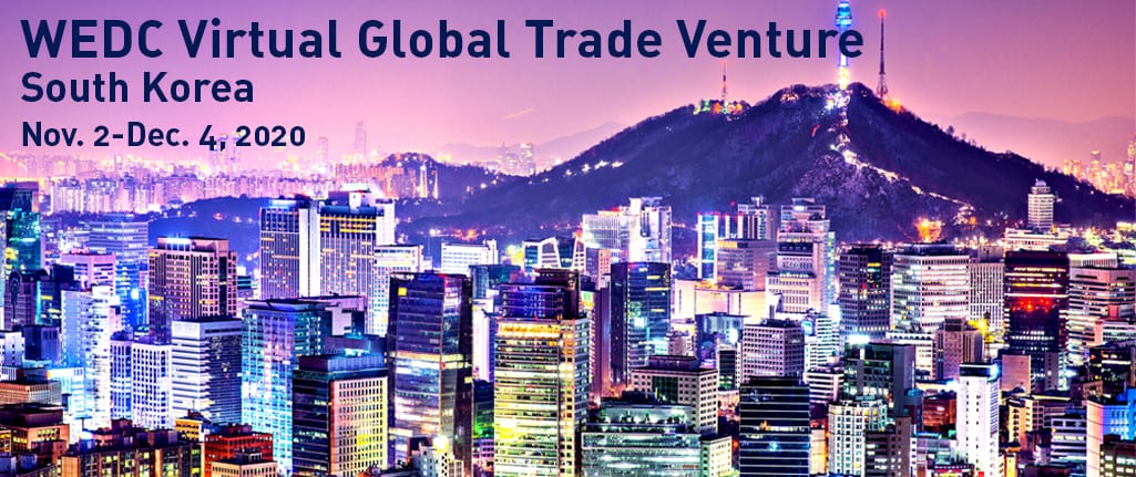 Join WEDC for a virtual trade venture to South Korea in 2020
